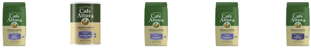 Cafe Altura Water Decaf Coffee