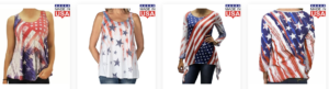 Flag Shirt Women's Made in USA Clothing